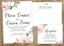 printable wedding invitation suite with vintage pink flowers the
