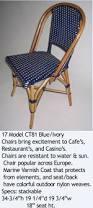 Blue Bistro Chairs Navy Blue U0026 Cream Mediterranean Bistro Chair E Parks Chairs