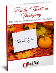 let us help you write thanksgiving letters to your employees this