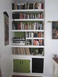 furniture white wooden corner wall book shelf with storage