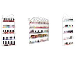 dazone diy mounted 5 shelf nail polish wall rack organizer holds