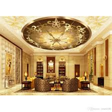 Wallpaper Home Decor Modern Modern Wallpaper For Living Room Golden Ceiling Fashion Decor Home