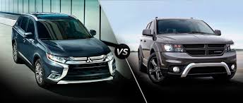 mitsubishi dodge mitsubishi outlander vs 2016 dodge journey
