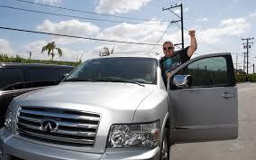 infiniti qx56 hood gabriel iglesias comedian celebrity drive truck trend