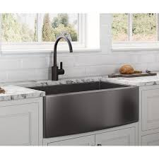 lowes 60 inch kitchen sink base cabinet ruvati terraza farmhouse apron front 30 in x 22 in gunmetal