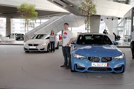 european delivery audi married picks up each an f80 bmw m3 in munich
