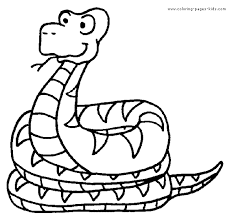 Snake Color Page Reptile Coloring Pages