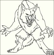 free printable werewolf coloring pages color zini