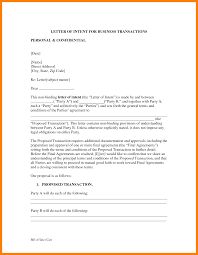 Letter Of Intent Format by Business Letter Of Intent Thebridgesummit Co