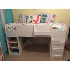 ameriwood home elements white loft bed with dresser and toy box
