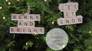diy scrabble letter ornament