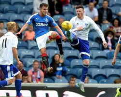 Andrew Halliday by Rangers 3 Peterhead 0 League Cup First Round Daily Record
