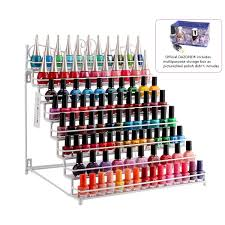 dazone mounted 8 tier metal shelf nail polish wall rack essential