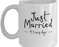 9th wedding anniversary gift 9th anniversary mug etsy