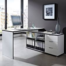 bureau d angle laqué blanc bureau d angle design avec caisson area deco creation bureau