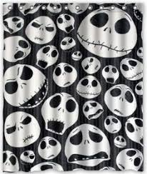nightmare before damask white fabric by
