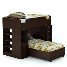 South Shore Logik Twin Over Twin LShaped Bunk Bed In Chocolate - South shore bunk bed