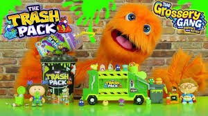 fuzzy puppet reacts grossery gang trash pack u0026 garbage pail