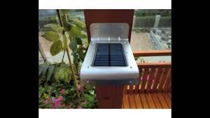 solar motion sensor outdoor light solar motion sensor light review youtube