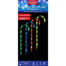 Candy Canes Lights Outdoor by 4 X 40 Led Candy Cane Christmas Lights Light Up Garden Path