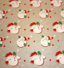 vintage christmas wrapping paper vintage 1950 s christmas wrapping paper snow nos
