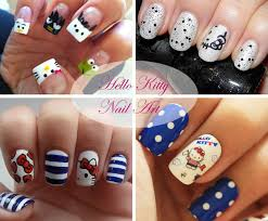 hello kitty nail art ideas beauty tips hair care