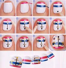 toenail designs toe anchor nails and anchor nail art