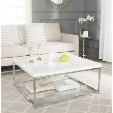 Shipping Crate Coffee Table - safavieh modern glam malone white chrome coffee table free