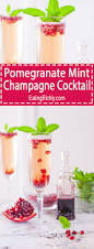 pomegranate mint champagne cocktail recipe champagne cocktail
