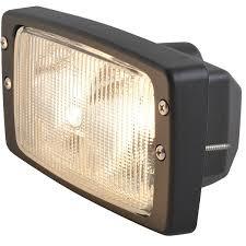 hella double beam halogen work light w rectangle flush mount 7