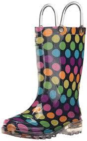 light up rain boots amazon com western chief kids light rain boot boots