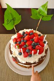 it s strawberry season birthday cake with blueberries
