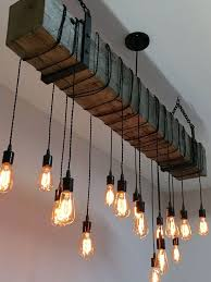 Chandelier With Edison Bulbs 54 Reclaimed Barn Beam Light Fixture With 12 By 7mwoodworking
