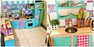 membuat mainan edukatif dari kardus ibu kreatif susun kardus bekas jadi dapur mini lalu viral