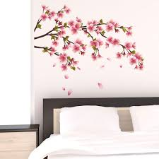 wall stickers florals leaves and branches shop wall art com cherry blossom branch wall sticker