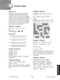 glencoe pre algebra study guide answer key mathematical concepts