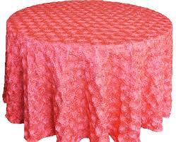 cheap table linens for sale coral satin rosette tablecloths wedding sale