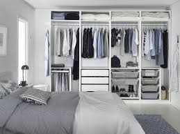 Ikea Modern Bedroom White Bedroom Ikea Pax Wardrobe With White Bedding And Gray Rug Also