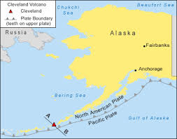map of aleutian islands mount cleveland active volcano in alaska s aleutian islands