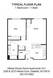 hillside floor plans hillside woods senior apartments delafield wi