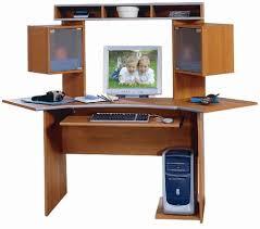 Bush Furniture Corner Desk Wc02404 Corner Desk And Hutch Planked Maple Metallic Silver