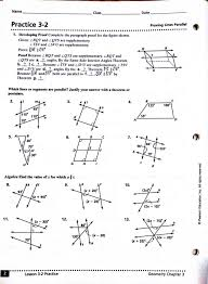 Interior And Exterior Angles Worksheet Geometry Parallel Lines And Transversals Worksheet With Maths