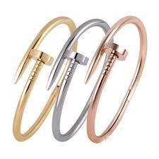 love bangle bracelet images Online shop screws nail cuff bangles copper love bracelets for jpg
