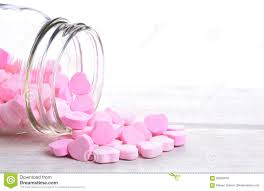 s day candy hearts candy hearts spill stock photo image 83633016