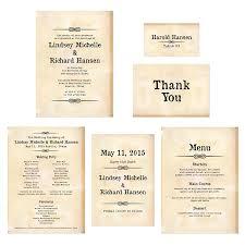 Thank Yous On Wedding Programs Western Wedding Invitations Menu Classic Western Invitations