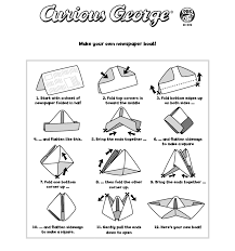 How To Make Boat From Paper - curious george printables pbs
