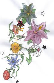 tattoo design coloured flowers by melonsmasher on deviantart