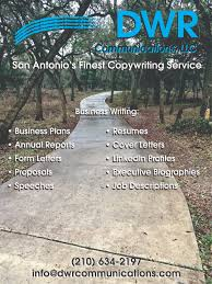 san antonio resume writing services business writing copywriter dwr communications llc san dwr communications is san antonio s finest copywriting service