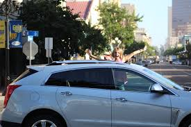 cadillac srx road arriving in style to with the 2015 cadillac srx she