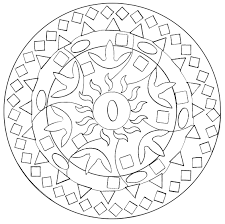 easy abstract mandala domandalas coloring pages for adults